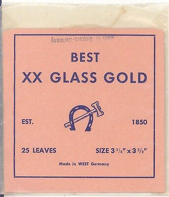 22K BEST XX GLASS GOLD 25 leaves MADE in WEST GERMANY gold leaf goldleaf