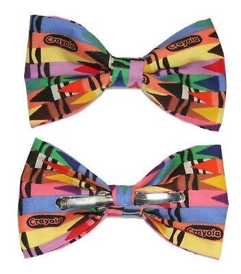 New Crayons Clip-On Cotton Bow Tie - Choose Men's or Boys Novelty - Crayon Boys Tie