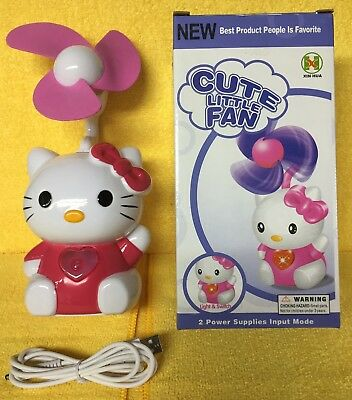 Hello Kitty USB/Battery Operated Light Up Heart and Fan - Battery Operated Fan And Light