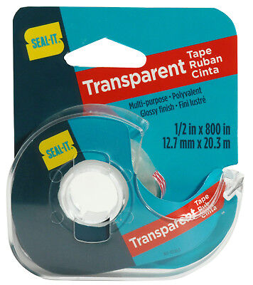 Seal-it Transparent Gift Wrap Tape With Dispenser 12 X 800 39203