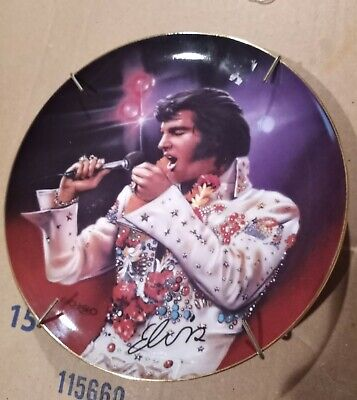 Elvis Presley Bradford Exchange Plate The King by Nate Giorgio Limited Edition