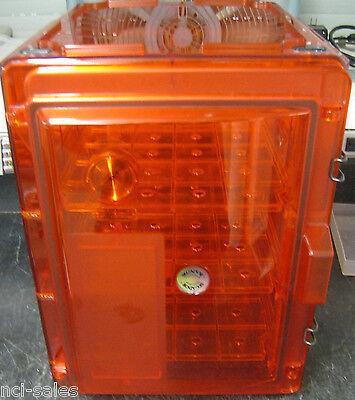Bel-art Secador Amber Desiccator 16x16x14 Wbuilt In Hygrometer