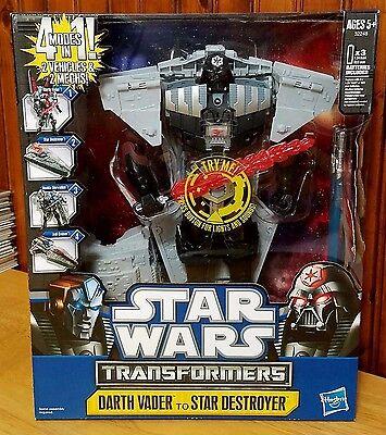 Star Wars Transformers Crossovers Darth Vader Star Destroyer 4 Modes Anakin MISB