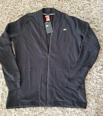 Nike Sportswear Modern Tech Fleece Men's Jacket L Black Coat Casual Cardigan New