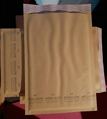 10 1 7.25x12 Kraft Ecolite Bubble Mailers Padded Self-sealing 85 Available