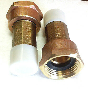 34 Lead Free Brass Water Meter Coupling Set Of 2 For 58 X 34