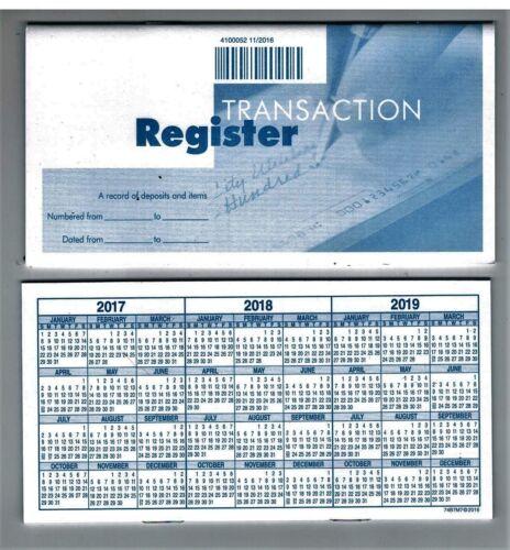 Deluxe Checking Checkbook Transaction Register Brand New