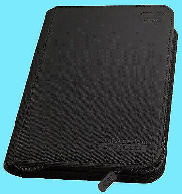 ULTIMATE GUARD BLACK MINI AMERICAN ZIPFOLIO XENOSKIN 9-Pocket BINDER X-Wing Card