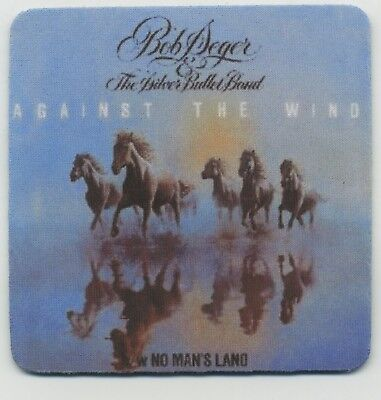 (Bob Seger The Silver Bullet Band - Beverage Coaster - Against the Wind )