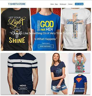 T-shirt Store Website Business For Sale - Earn 113 A Sale. Free Domainhosting
