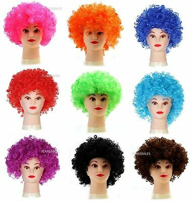 AFRO WIG  MULTI COLOUR 80s CURLY PARTY CLOWN FUNKY DISCO KIDS CHILDS (Kids Clown Wigs)