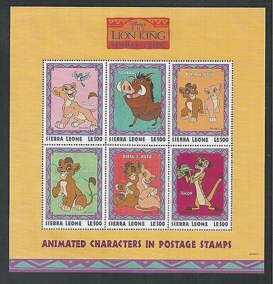 SIERRA LEONE # 2124-2127 MNH DISNEY The Lion King Animated Characters