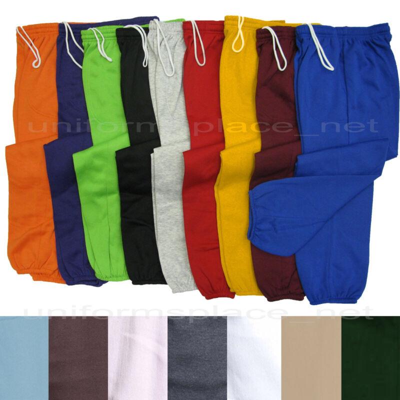 Unisex Mens Womens Sweatpants Fleece Workout Gym Pants Elastic Waist S To 5xl