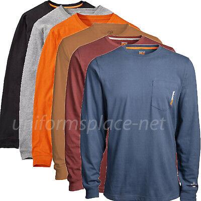 Timberland PRO T Shirt Mens Long Sleeve Base Plate Wicking Pocket T-shirt A1HVN