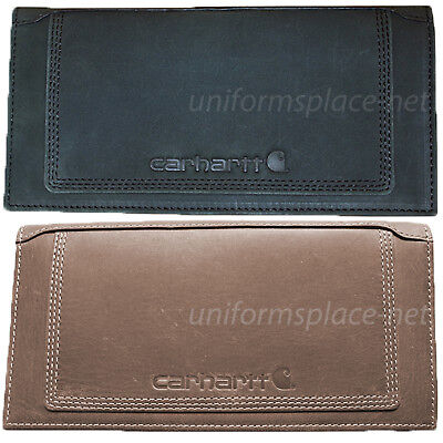 Carhartt Wallet Mens Detroit Rodeo Wallet Billfold Leather Brown Black Wallets (Brown Leather Billfold Wallet)