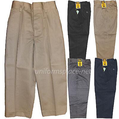School Uniform Pants Boys Flat front / Back elastic Uniforms Pant Regular, Husky Boys School Uniform Pant