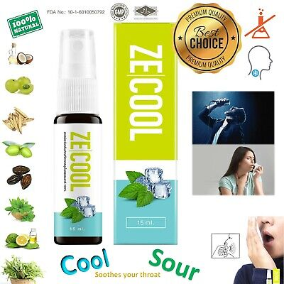 ZECOOL 100% Natural Herbal Mouth spray best Sore throat remedies Cure Bad