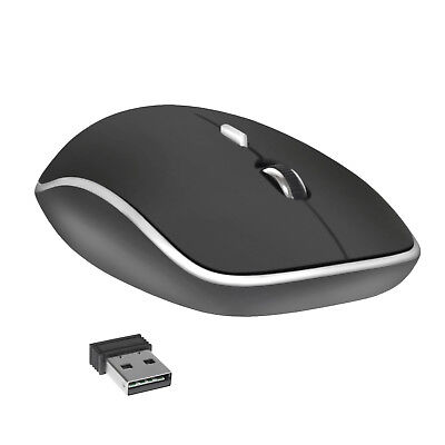 2.4GHz Wireless Cordless Optical Mouse Mice USB Receiver for PC Laptop - Black Mice