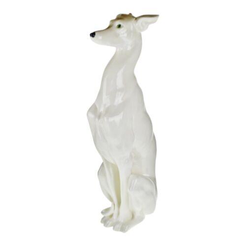 "Vintage Italian Ceramic Whippet Greyhound 28"" Dog Sculpture"