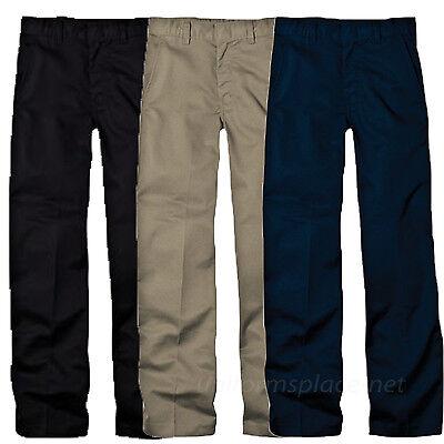 Dickies Pants School Uniforms Boys Flexwaist Flat front Adjustable Pant KP321