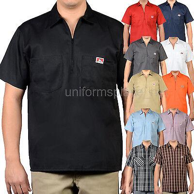 Ben Davis Short Sleeve Shirts Men POCKETS Stripe, Plaid, Col