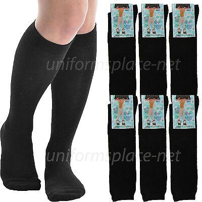 6 pairs girls knee high socks fashion
