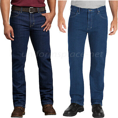 - Dickies Jeans Mens FLEX Regular Fit Straight Leg 5-Pocket Denim Jeans Pant 11293