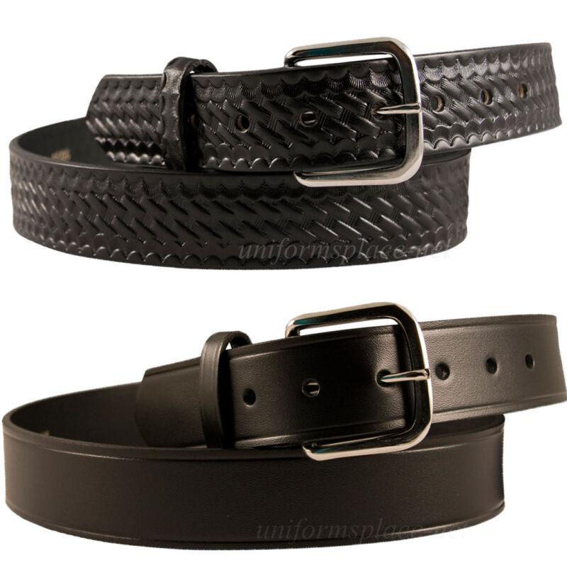 Men Boston Leather 1-1/2 Off Duty Belt 6606 Usa Made Black 30-60 Plain Buckle