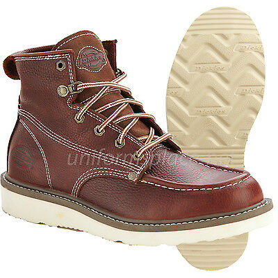 Dickies Work Boots Mens Trader Work Boots Soft Toe Brown Leather Boot (Dickies Mens Boots)