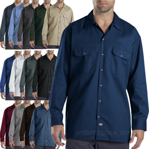 Dickies work shirts Mens LONG SLEEVE button-up Shirts 574