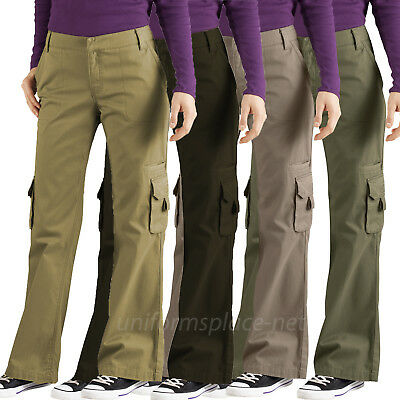 Women's Cargo Pants Dickies Women Relaxed Fit Cargo Pocket Pant FP777 Cotton