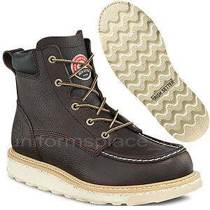 Men Work Boots Red Wing Irish Setter 6-inch boot Safety Toe Brown 83606 moc-toe