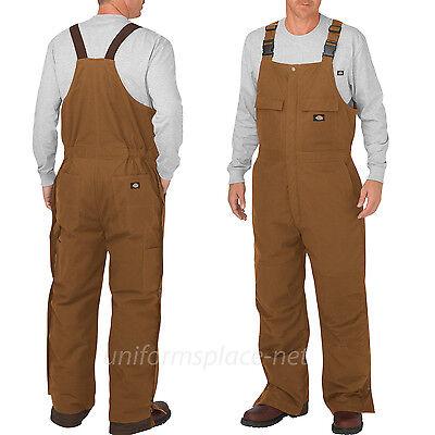Dickies Bib Overalls Mens Flex Sanded Stretch Duck Insulated Bib Overall TB577 Mens Insulated Overalls