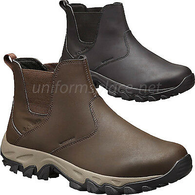 Columbia Leather Boots Men Newton Ridge Plus Slip on Waterpr