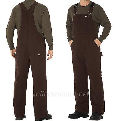Dickies Bib Overalls Mens Sanded Duck Insulated Bib Overall Pants TB244 Mens Insulated Overalls