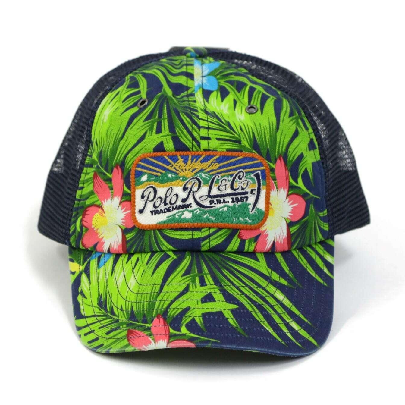 Polo Ralph Lauren Aloha Floral Mesh Trucker Baseball Hat Cap  2 colors