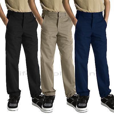 Dickies Pants Boys School Uniforms Pants Reinforce knee Black Navy Khaki Uniform Boys School Uniform Pant