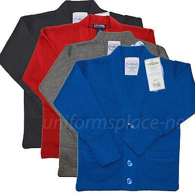 (Cardigan Sweater Cobmex Boys, Youth V-Neck Cardigan Sweaters School Uniforms)