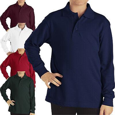 Dickies polo Shirts Boys long sleeve PIQUE Top Kids School Uniforms Collar Shirt Dickies Long Sleeve Polo Shirt