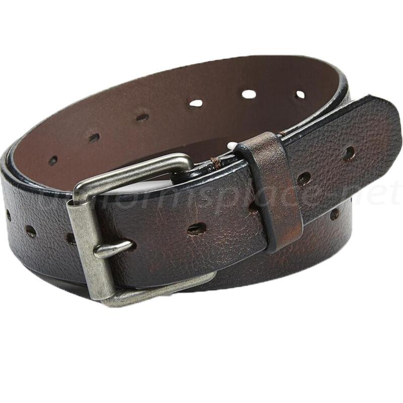"""Levis Leather Belt Men 1 1/2"""" Brown Belt Roller Buckle 11lv1269"""