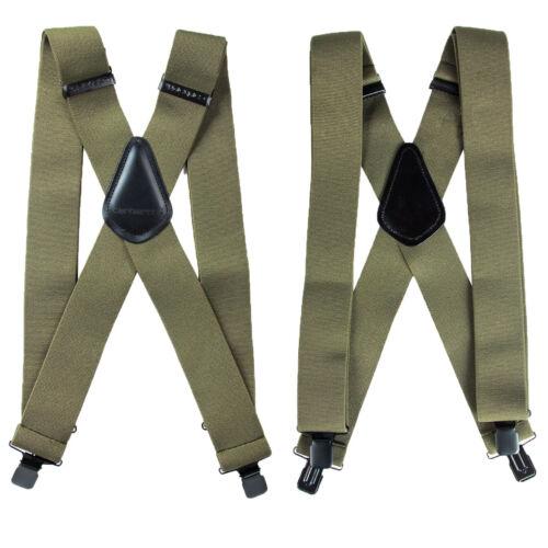 "Carhartt Utility Suspenders 2"" Adjustable Clip-on Work, Hunter Suspender Belt G"