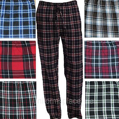 Flannel Mens Pajamas - Mens flannel pajamas pants Poly/Rayon Loungewear Plaid Pant PJ Sleepwear M - 2X