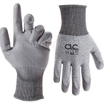 Clc Work Gloves Mens Cut Resistant Polyurethane Dip Gloves 2501