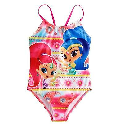 Shimmer And Shine One Piece Swimsuit Girl Size 5/6