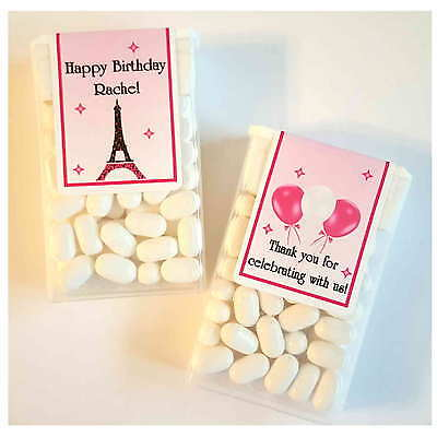 28 EIFFEL TOWER PARIS THEME BIRTHDAY PARTY FAVORS ~ TIC TAC LABELS