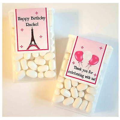 28 EIFFEL TOWER PARIS THEME BIRTHDAY PARTY FAVORS ~ TIC TAC