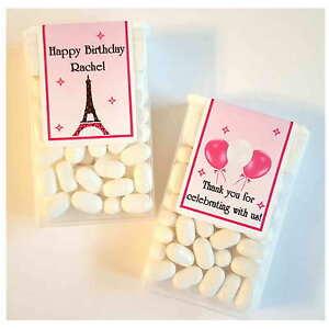 28 EIFFEL TOWER PARIS THEME BIRTHDAY PARTY FAVORS ~ TIC TAC LABELS