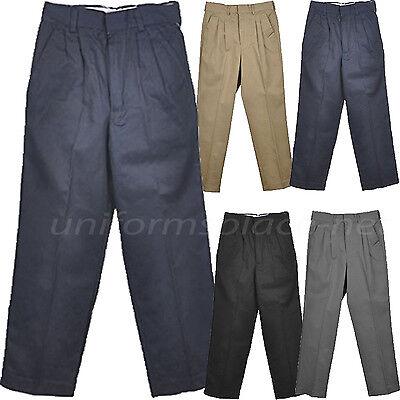 School Uniform Pants Boys Pleated front / Back elastic Uniforms Pant Boys School Uniform Pant