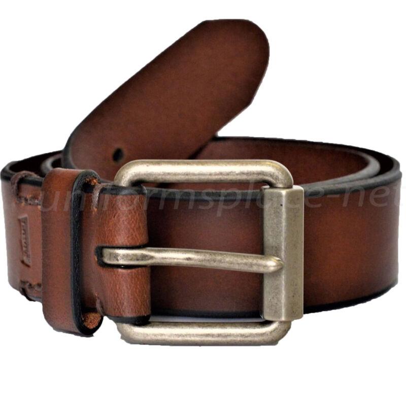 """Levis Leather Belt Men 1 1/2"""" Brown Belt Hex Roller Buckle 11lv02wg"""