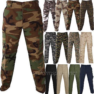 Propper Pants Mens Bdu Tactical Pant Genuine Gear Zipper Fly Ripstop Camo Colors